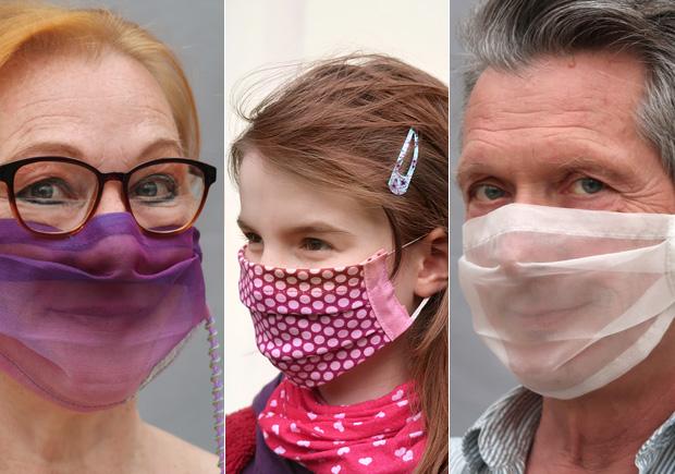 Kreative Mund-Nasen-Masken vom Atelier Art Couture